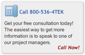 Call 800-536-4TEK and speak to a Datatek project manager today!